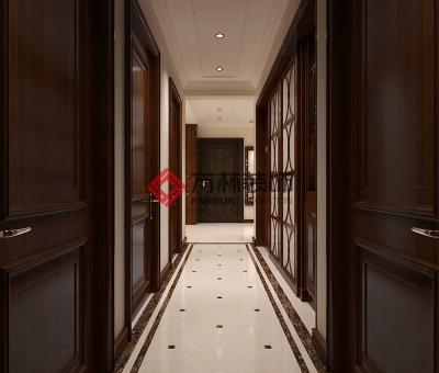 保利拉菲公馆130㎡现代简约装修效果图